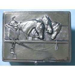 Szkatułka z końmi - plater - prezent dla koniary