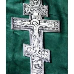 Krzyż prawosławny posrebrzany