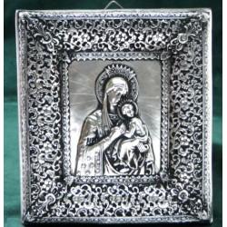 Matka Boska Nieustającej Pomocy-posrebrzany prezent komunijny
