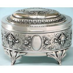 Secesja - cukiernica srebrzona - rękodzieło artystyczne